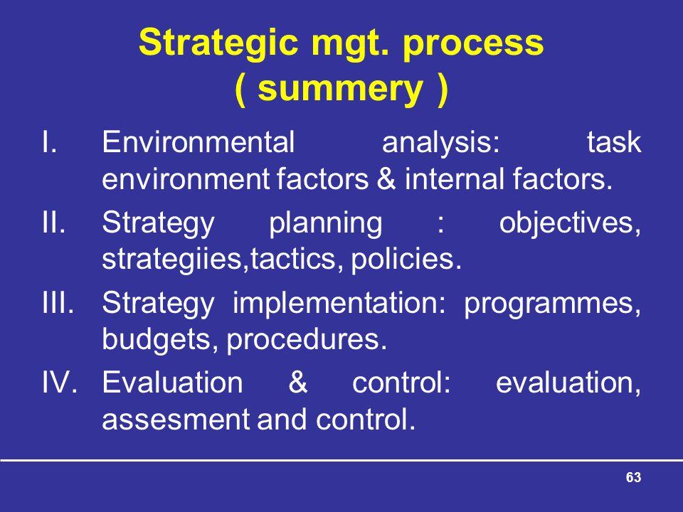 63 Strategic mgt.