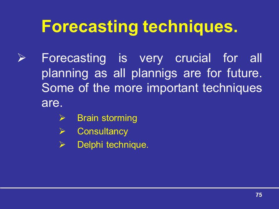 75 Forecasting techniques.