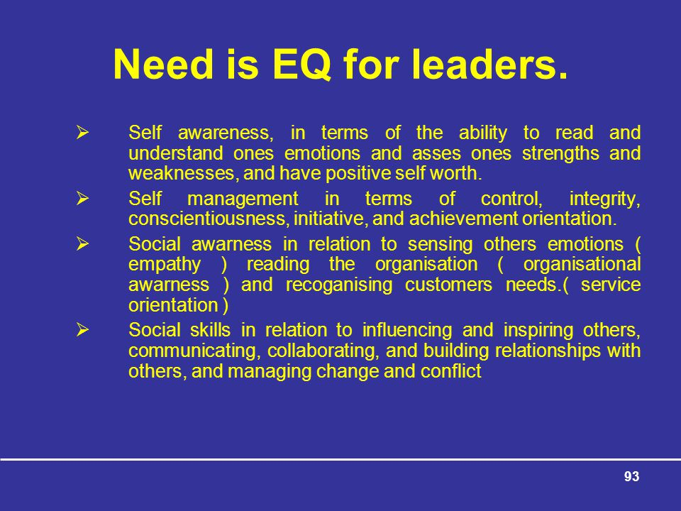 93 Need is EQ for leaders.