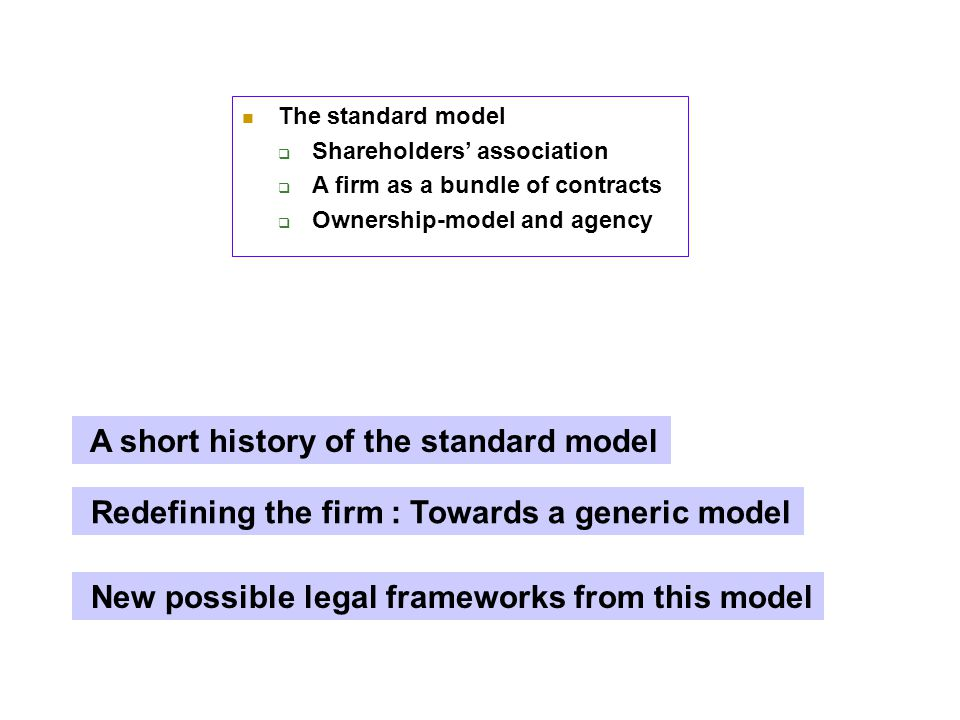 2- A short history of the corporate model Why and how has the S.A. emerged ?