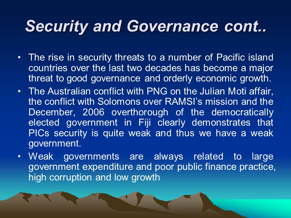 Security and Governance cont..