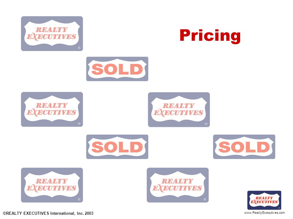 www.RealtyExecutives.com Pricing ©REALTY EXECUTIVES International, Inc. 2003