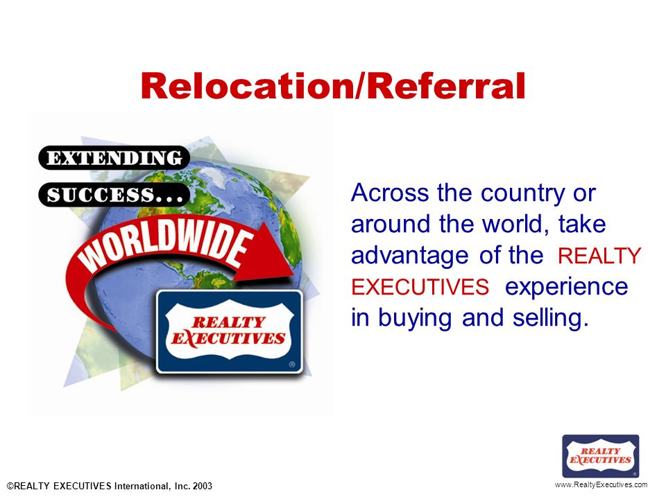 www.RealtyExecutives.com Overpricing Reduces sales associates activity Reduces marketing response Loses interested buyers Attracts the wrong prospects Eliminates offers Helps sell the competition Extends the market time.