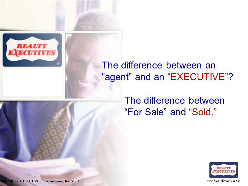 www.RealtyExecutives.com Appraisal vs.
