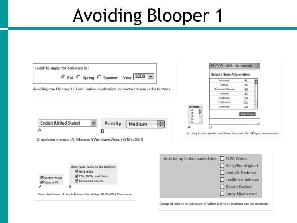 Avoiding Blooper 1