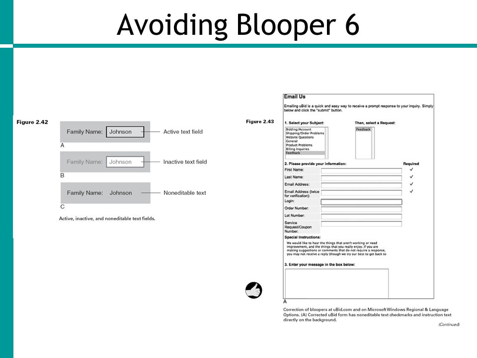 Avoiding Blooper 6