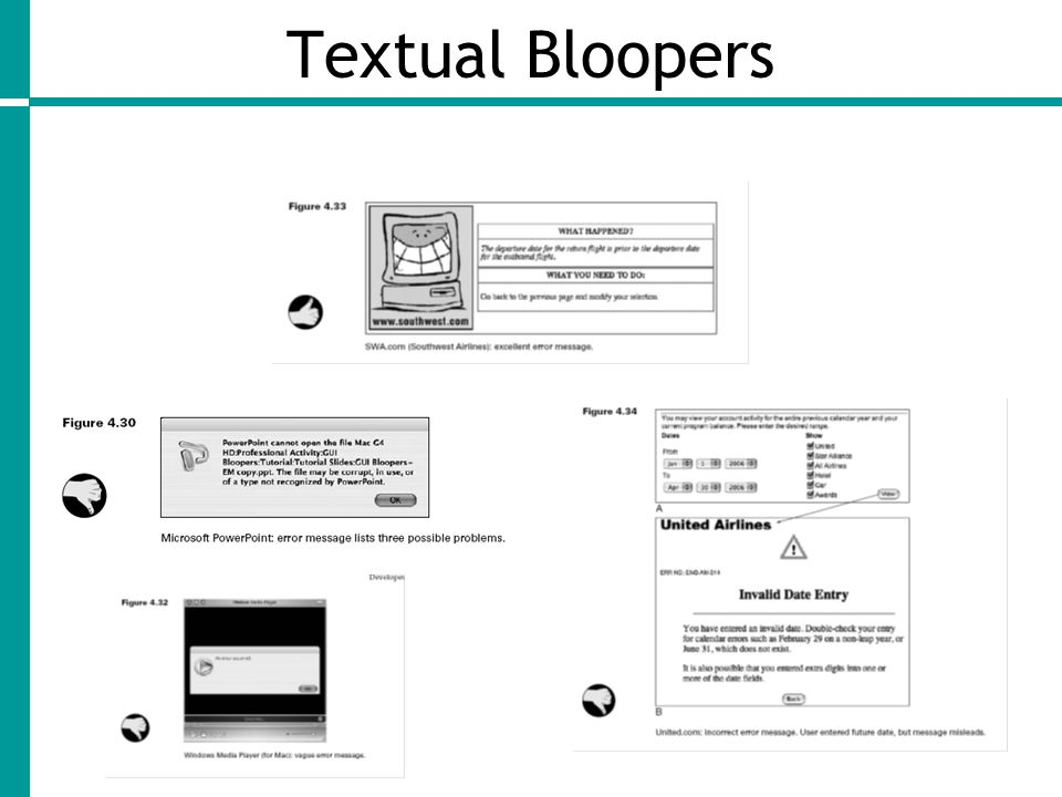 Textual Bloopers
