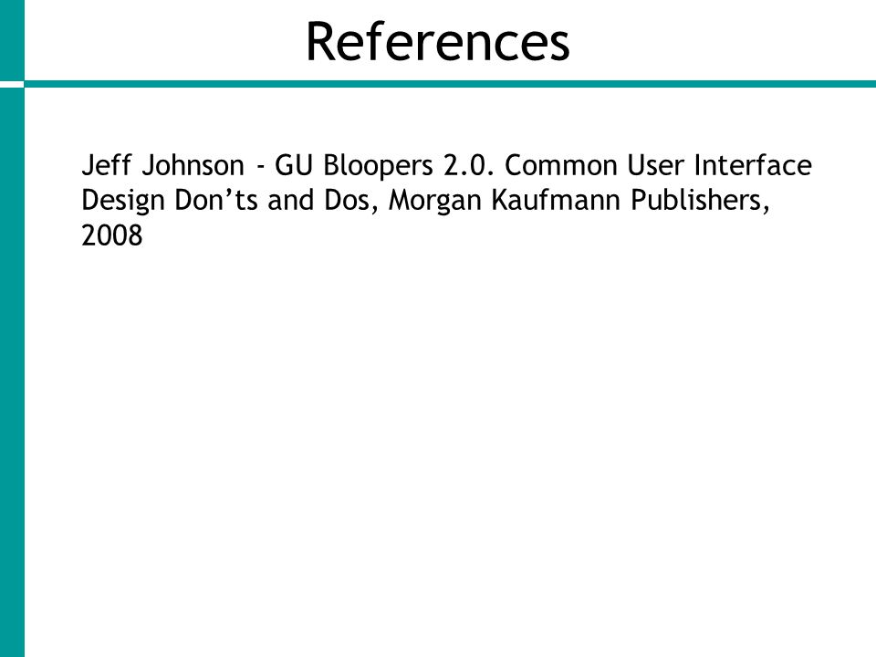 References Jeff Johnson - GU Bloopers 2.0.