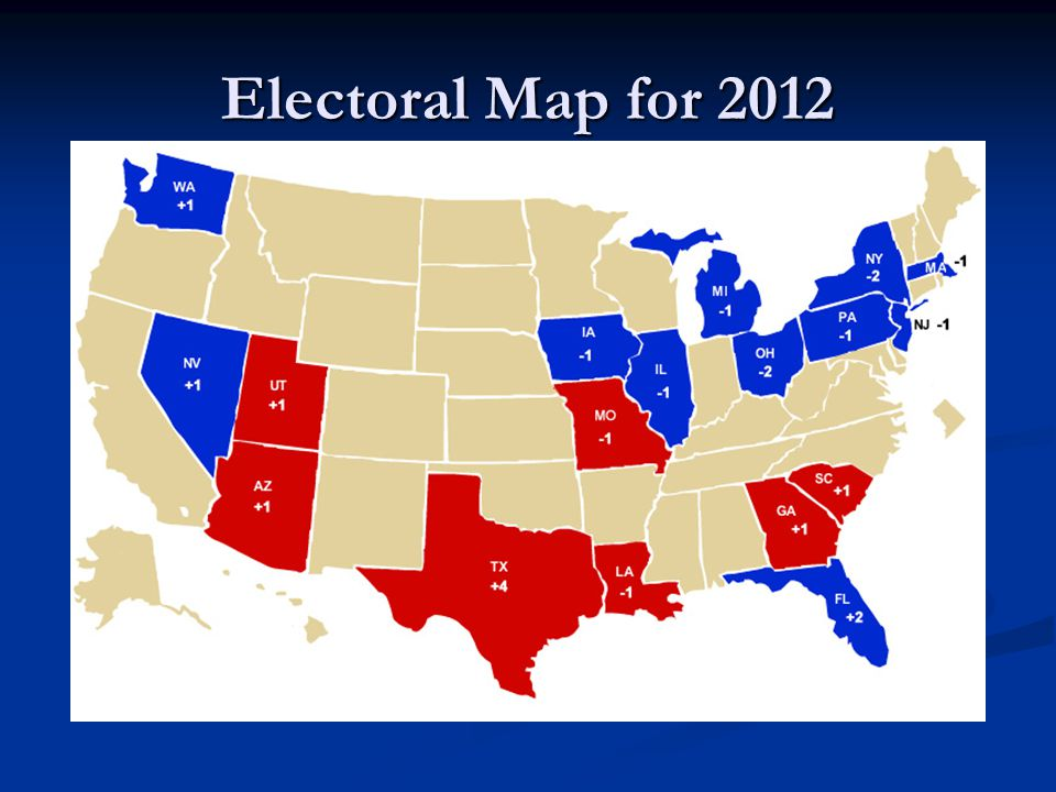 Electoral Map for 2012