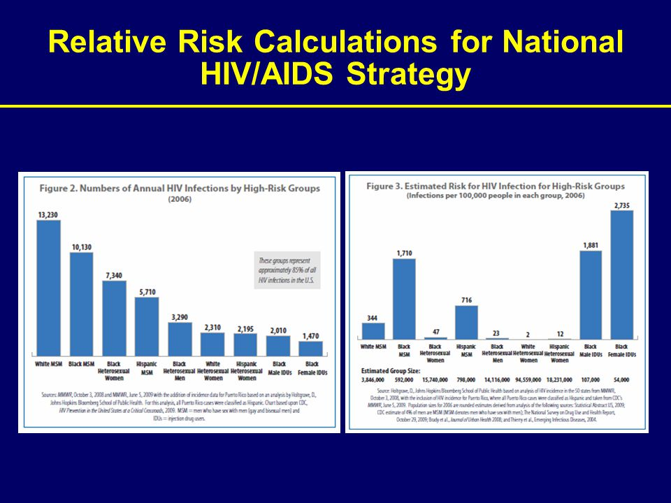 Relative Risk Calculations for National HIV/AIDS Strategy