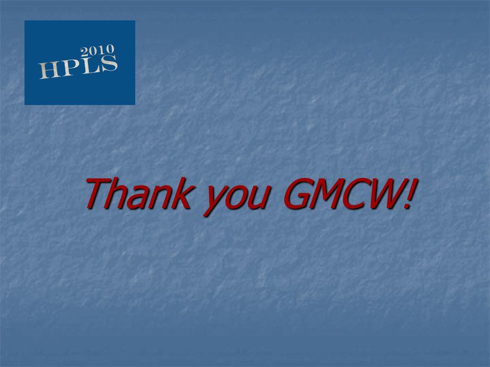 Thank you GMCW!
