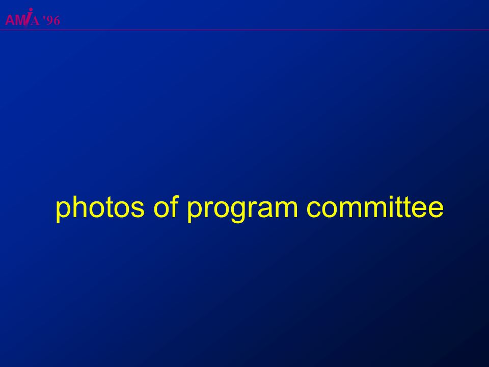 AM A 96 photos of program committee