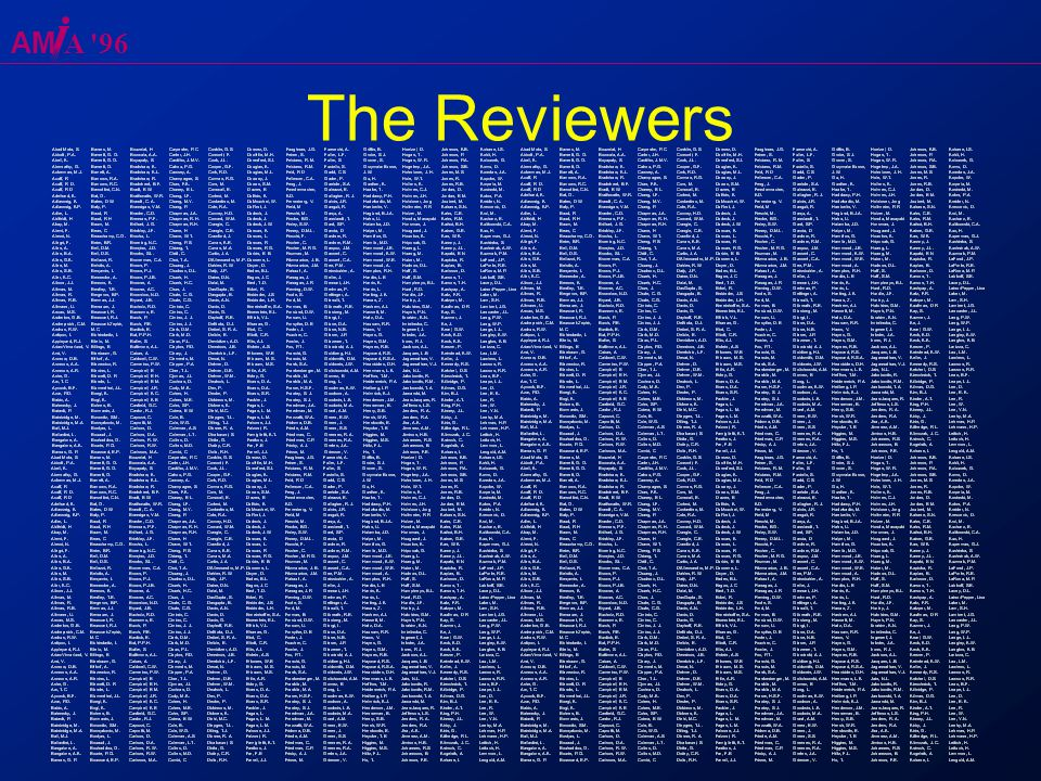 AM A 96 The Reviewers