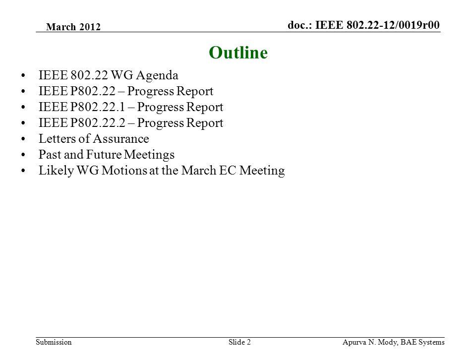 doc.: IEEE 802.22-12/0019r00 SubmissionApurva N.