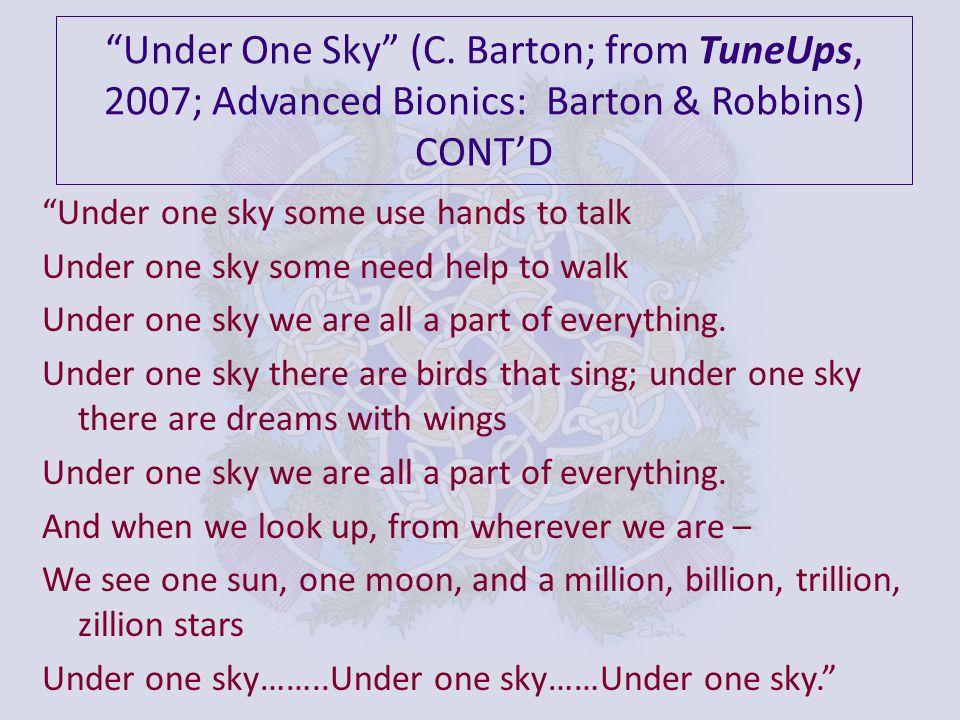 Under One Sky (C.