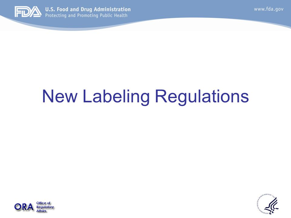 New Labeling Regulations