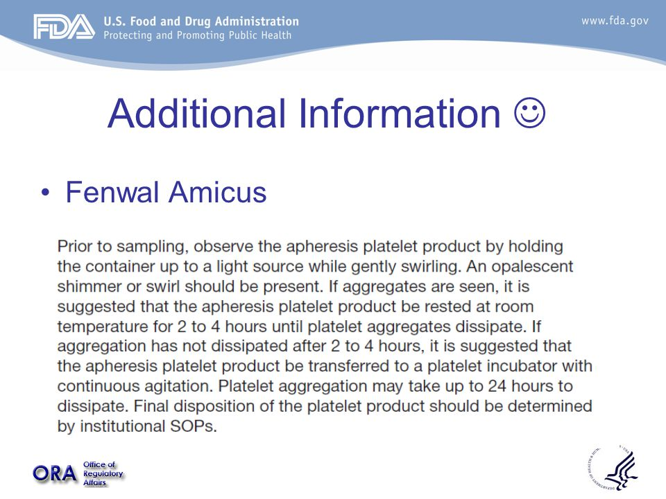 Additional Information Fenwal Amicus