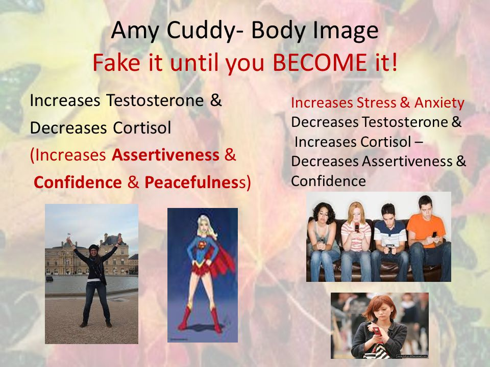 Amy Cuddy- Body Image Fake it until you BECOME it.