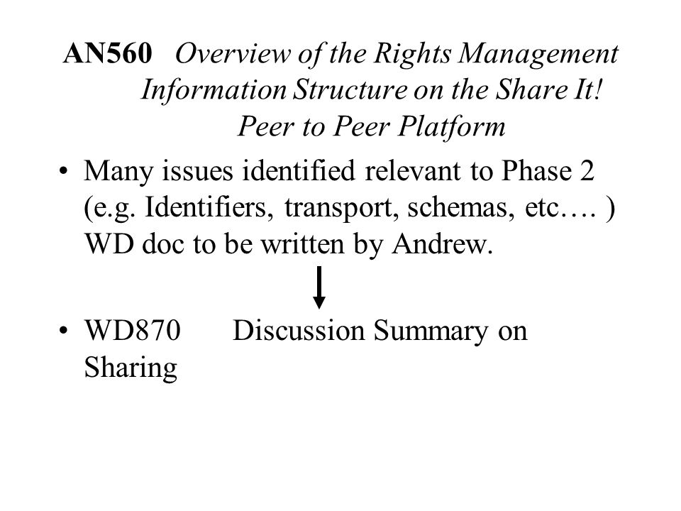 AN560 Overview of the Rights Management Information Structure on the Share It.