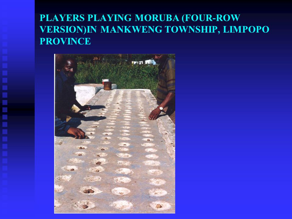 SOME PERSPECTIVES ON MORUBA FROM INDIGENOUS KNOWLEDGE HOLDERS It is predominantly a men's game used during war, as a result no women played the game a