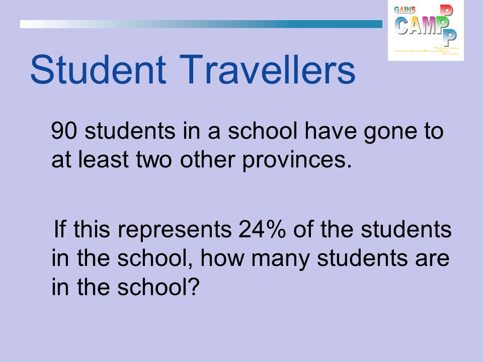 90 students in a school have gone to at least two other provinces.