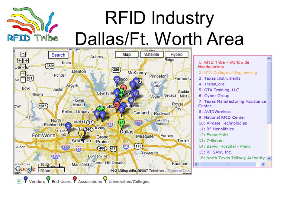 RFID Industry Dallas/Ft. Worth Area