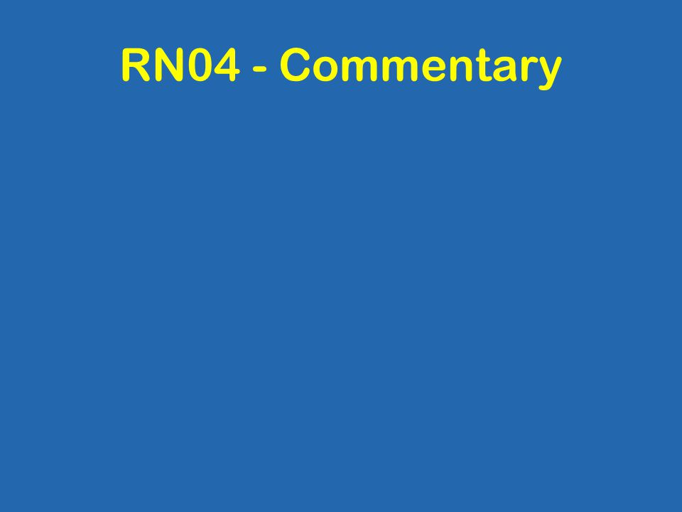 RN04 - Commentary