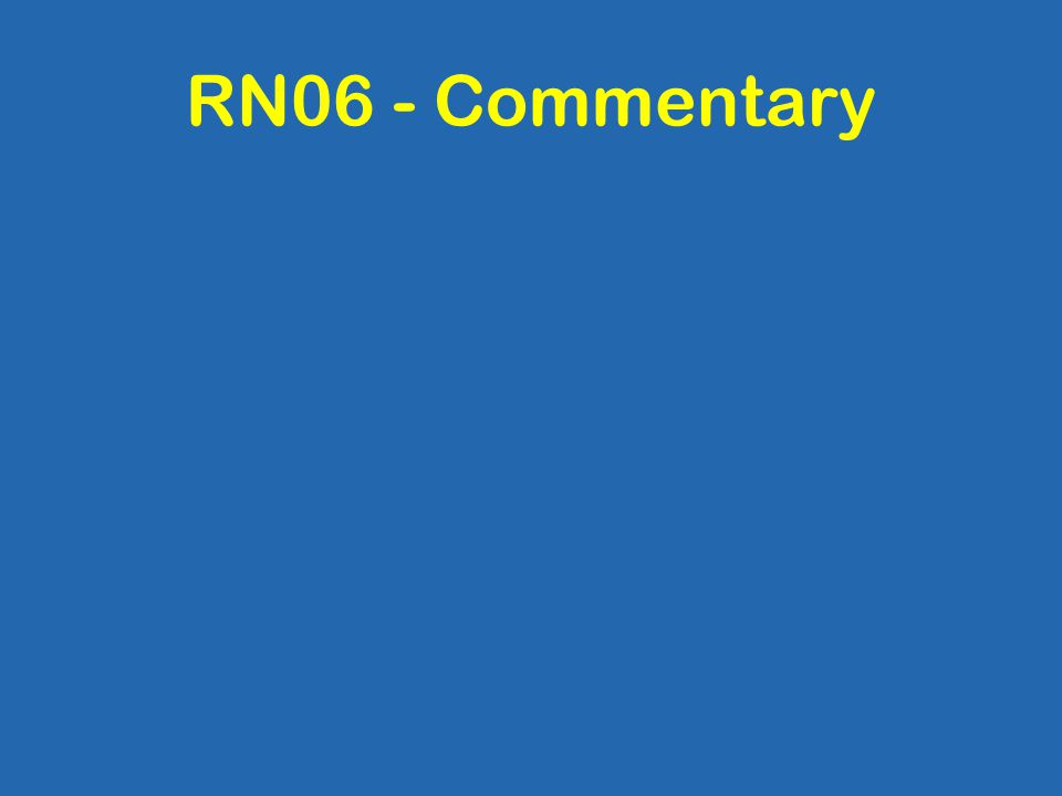 RN06 - Commentary