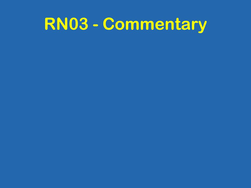 RN03 - Commentary