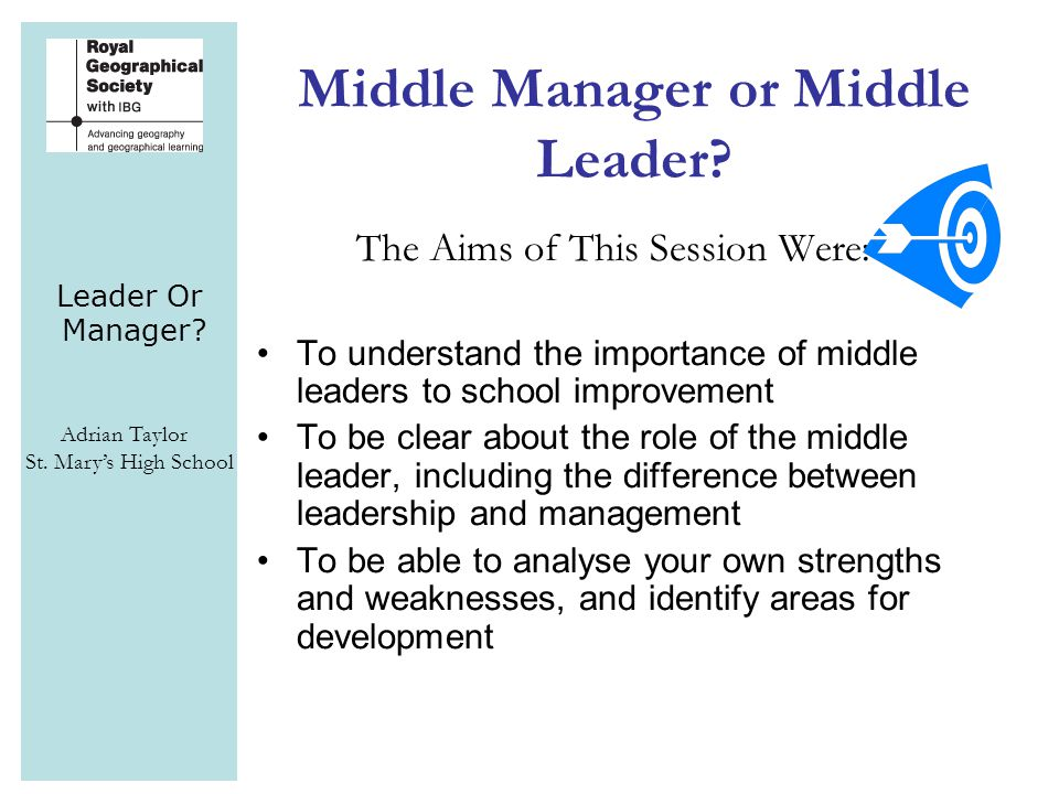 Leader Or Manager.Adrian Taylor St.
