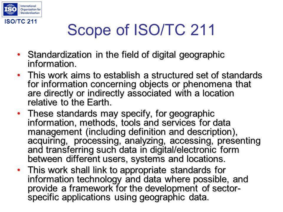 ISO/TC 211 ISO/TC 211 Projects