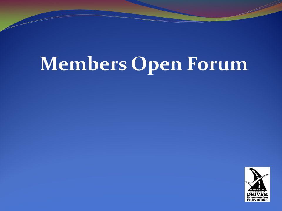 Members Open Forum