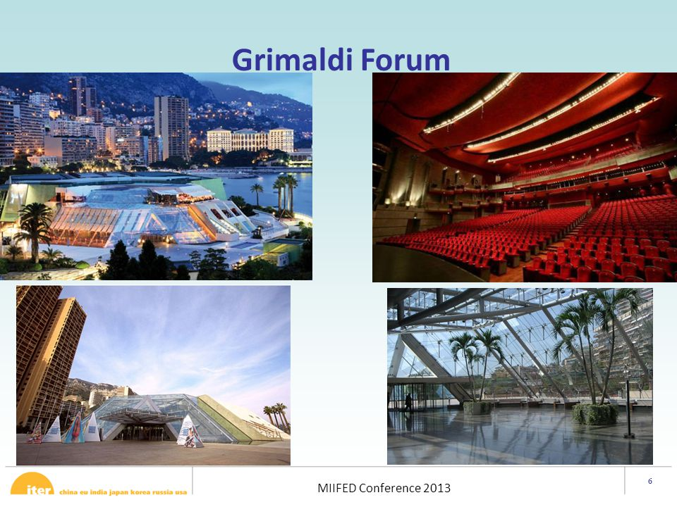 6 MIIFED Conference 2013 Aim: It is proposed that the event addresses fusion in the broader energy context.