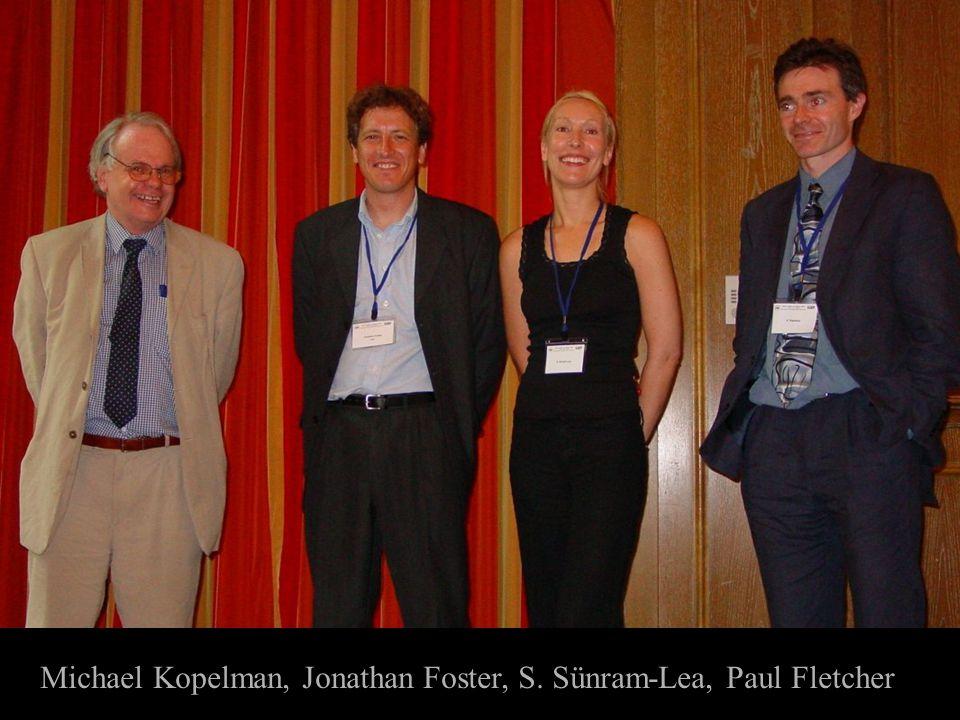 Michael Kopelman, Jonathan Foster, S. Sünram-Lea, Paul Fletcher