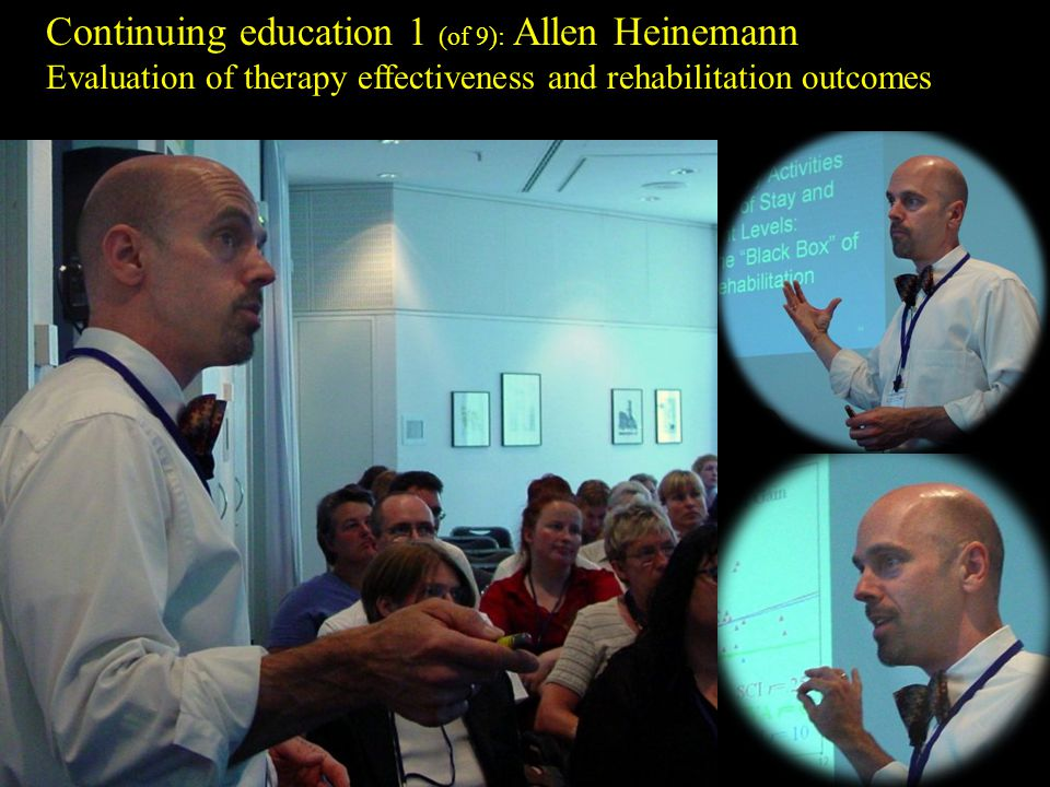 Continuing education 1 (of 9): Allen Heinemann Evaluation of therapy effectiveness and rehabilitation outcomes