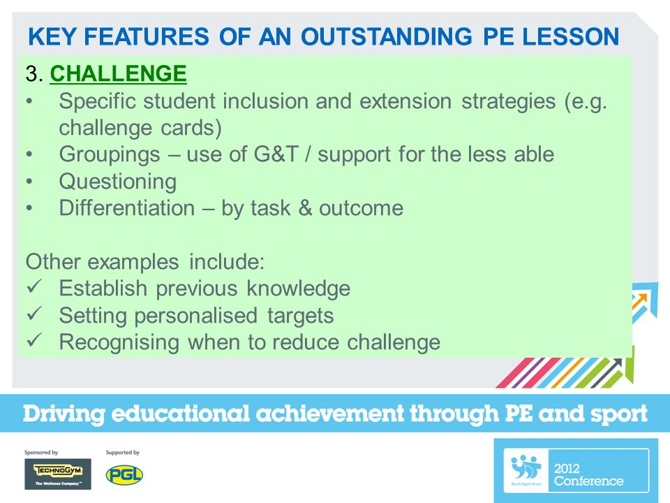 KEY FEATURES OF AN OUTSTANDING PE LESSON 4.Forms of ASSESSMENT & 5.
