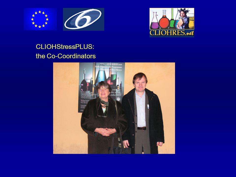CLIOHStressPLUS: the Co-Coordinators