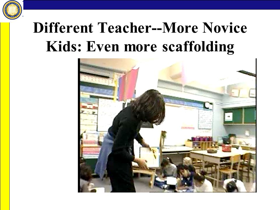 Different Teacher--More Novice Kids: Even more scaffolding