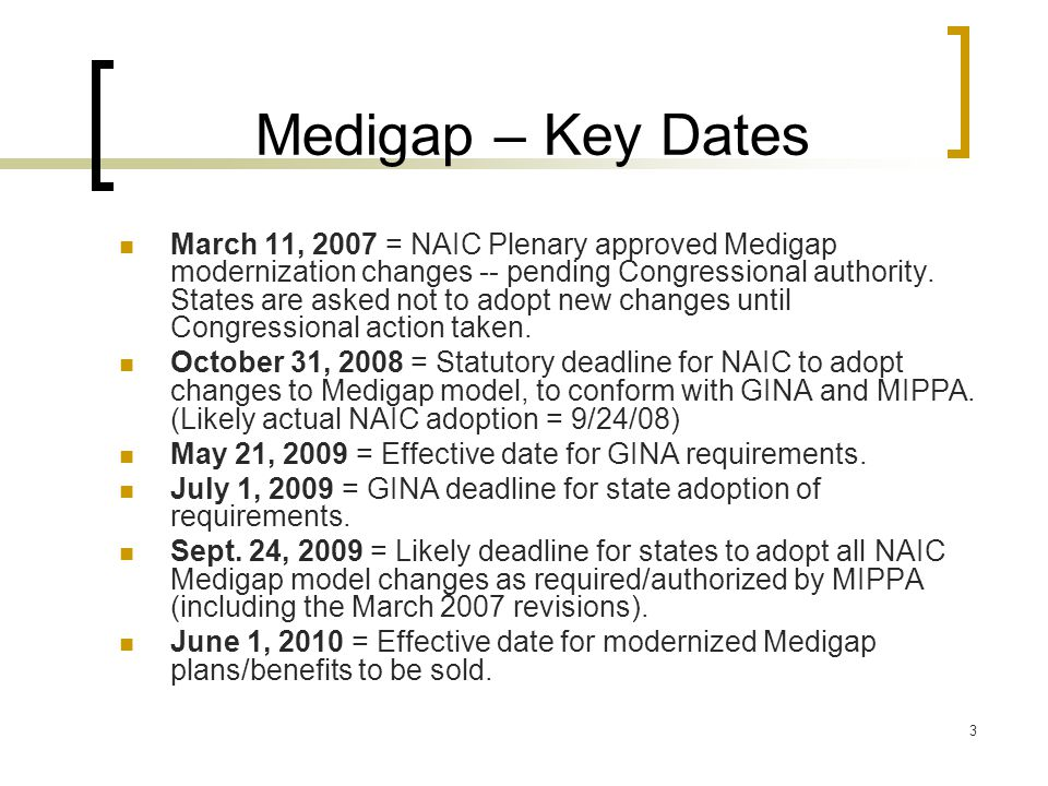 14 MIPPA Requirements MIPPA authorizes the revisions to Medigap plans and benefits contained in the model law revisions approved by NAIC in March 2007.