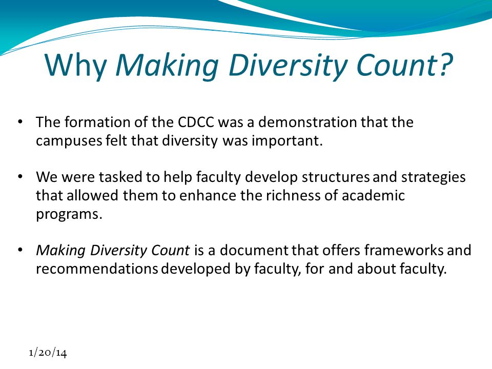 Why Making Diversity Count.