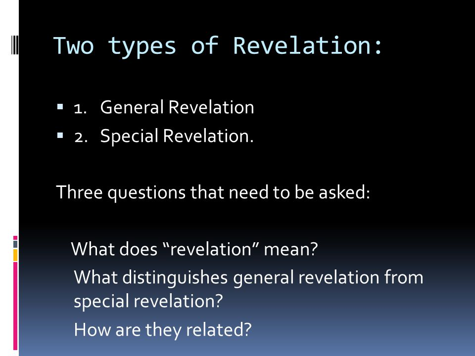 What does Revelation mean.