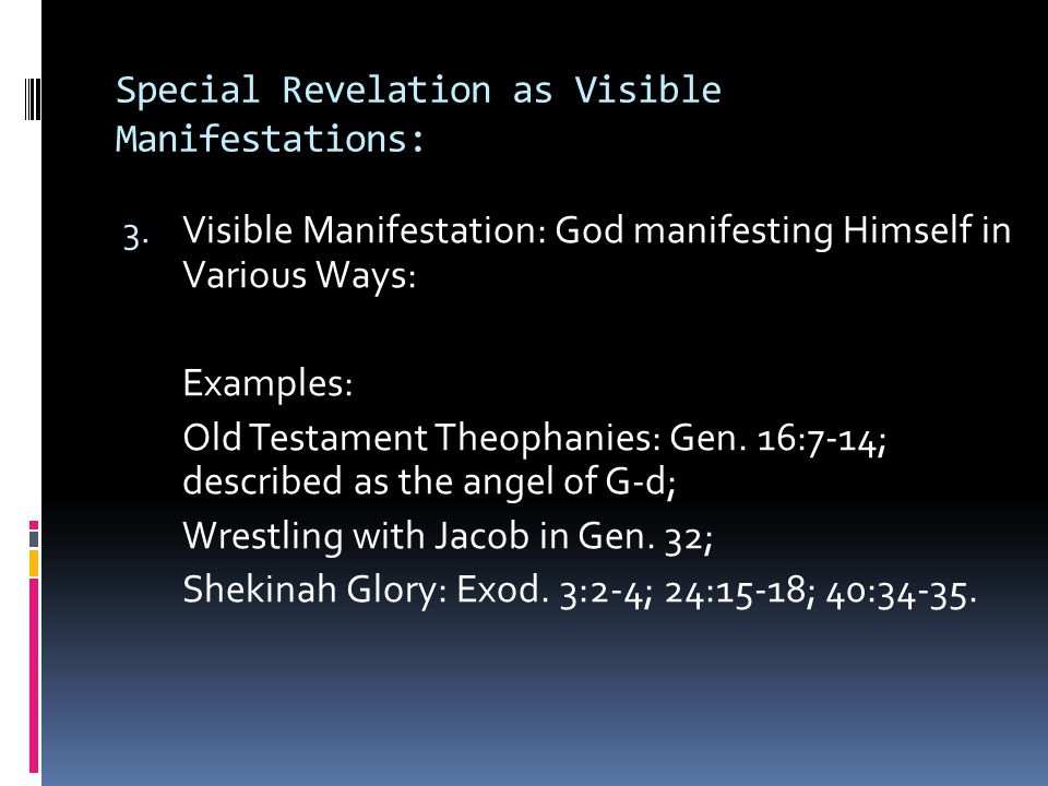 What is the relationship between special revelation & natural revelation.