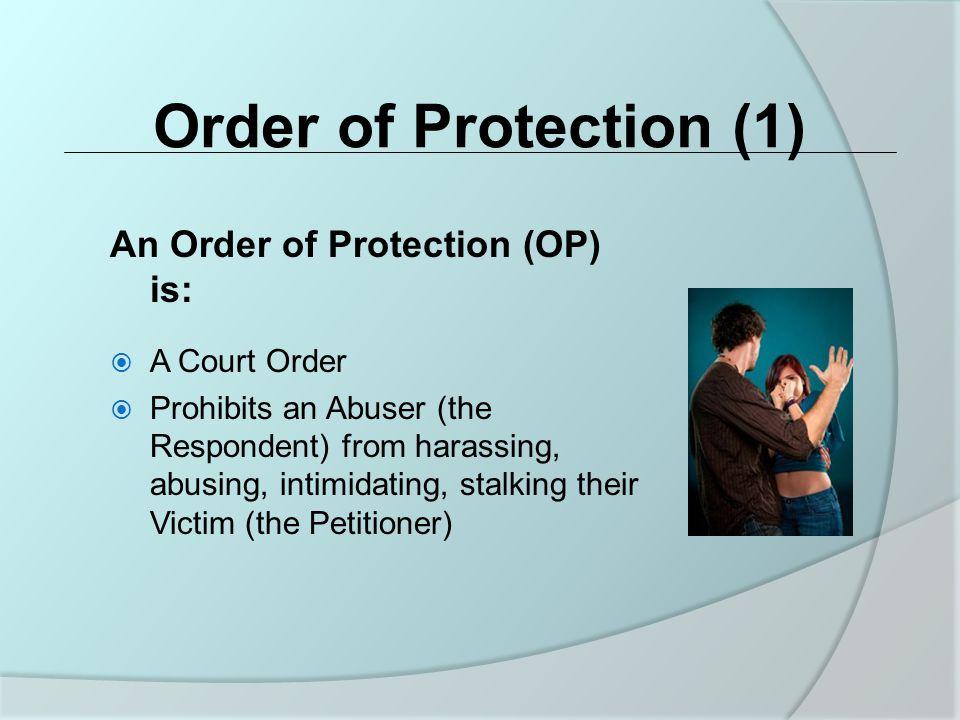 Criminal Legal Remedies (2) No Contact Conditions of Bail Bond/Probation 2.