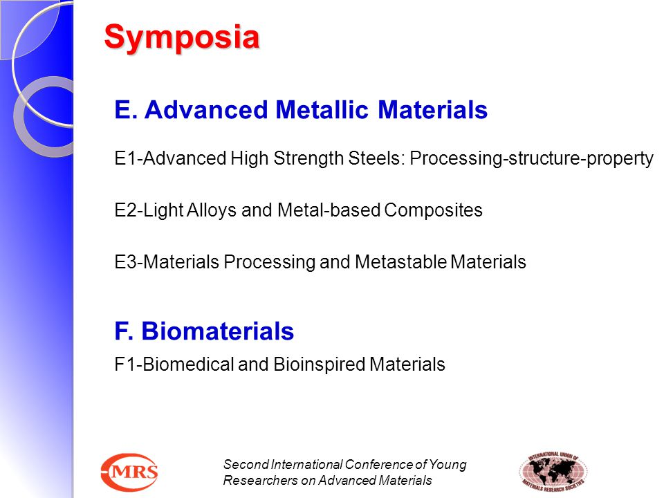 Second International Conference of Young Researchers on Advanced Materials E. Advanced Metallic Materials E1-Advanced High Strength Steels: Processing