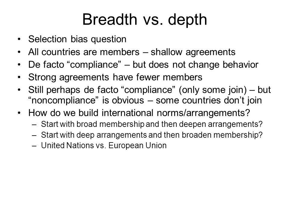 Breadth vs.