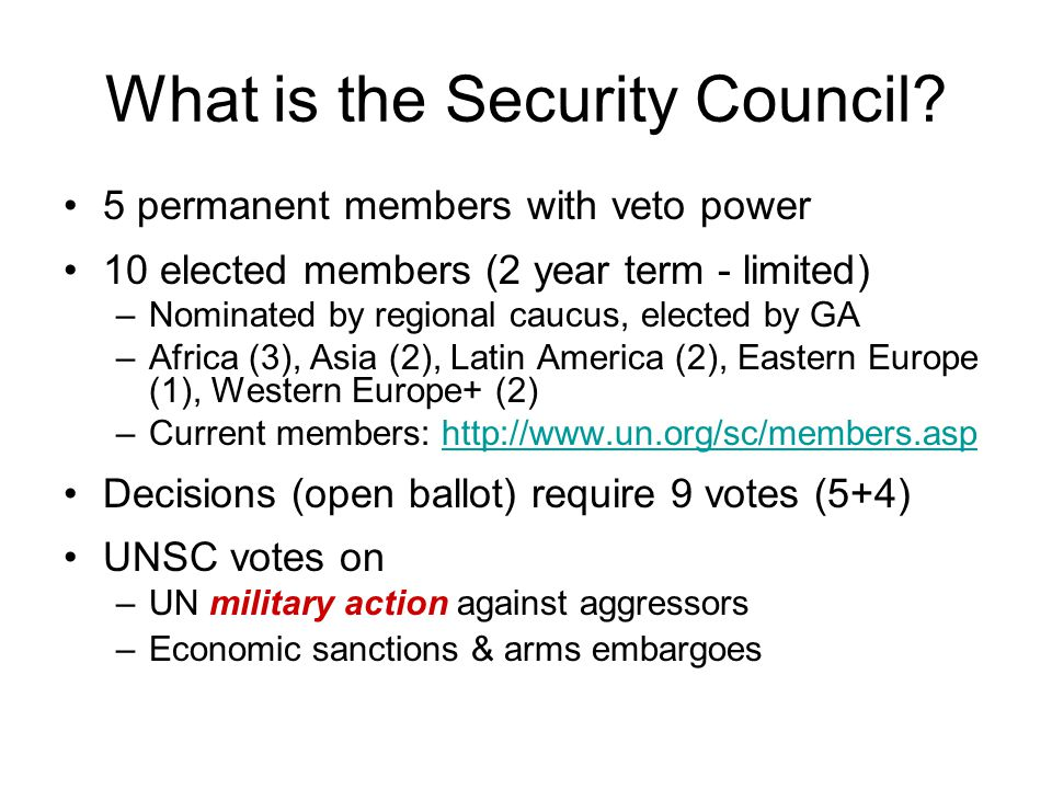 What is the Security Council.