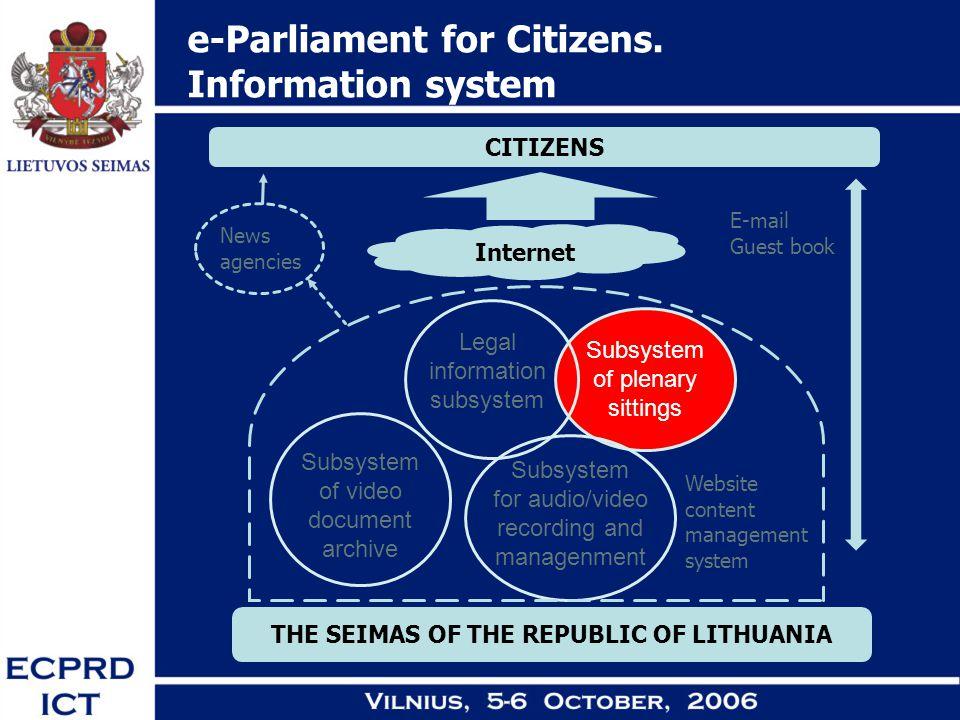 e-Parliament for Citizens.