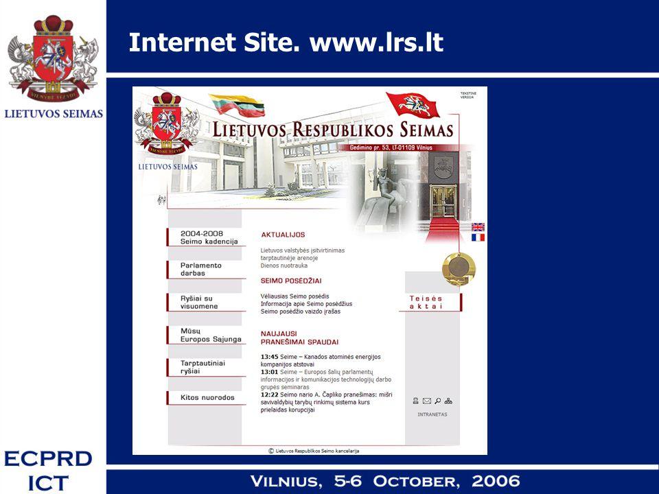 Internet Site. www.lrs.lt