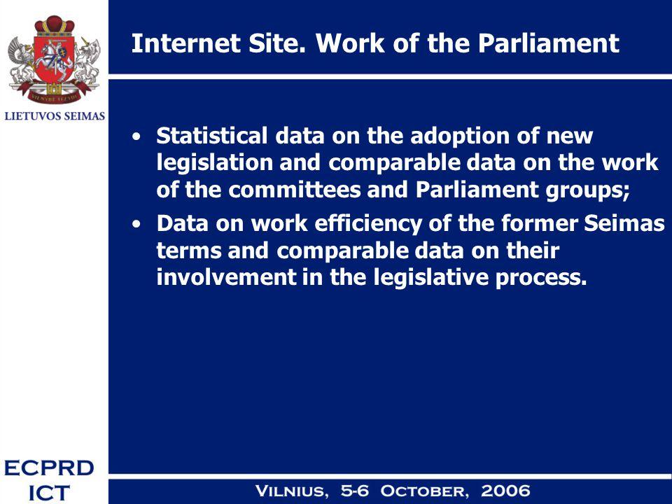 Internet Site.