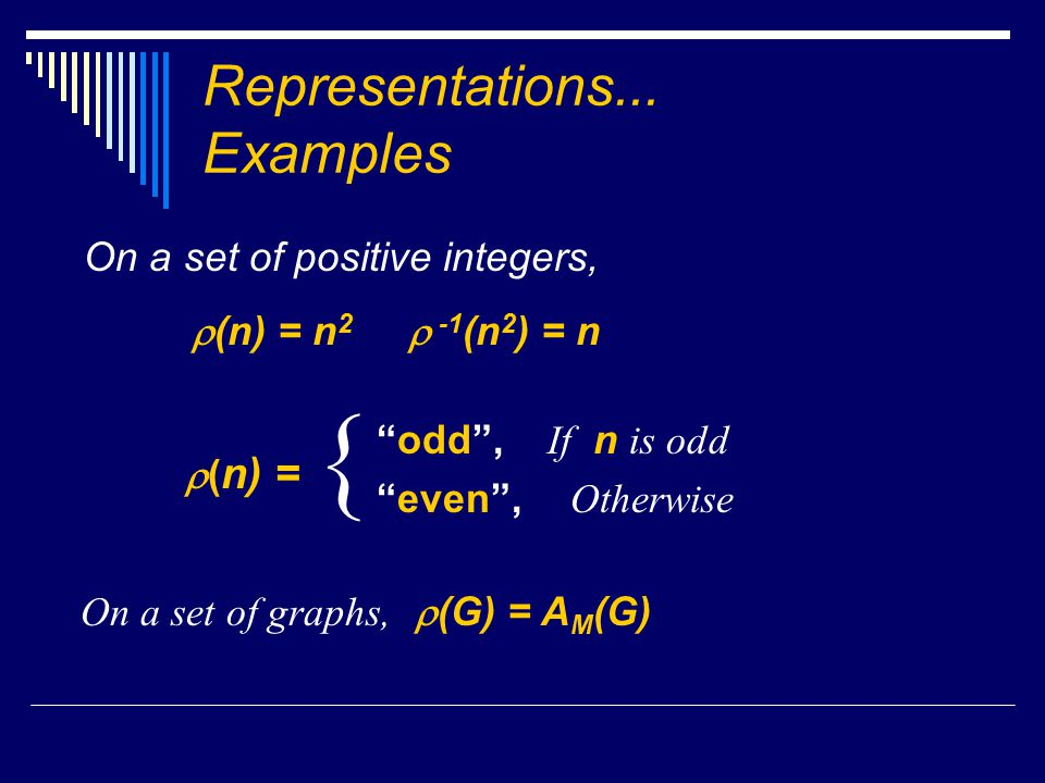 Representations...